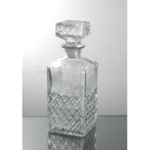 55626 Diamond Decanter Bottle W/Lid 30 oz